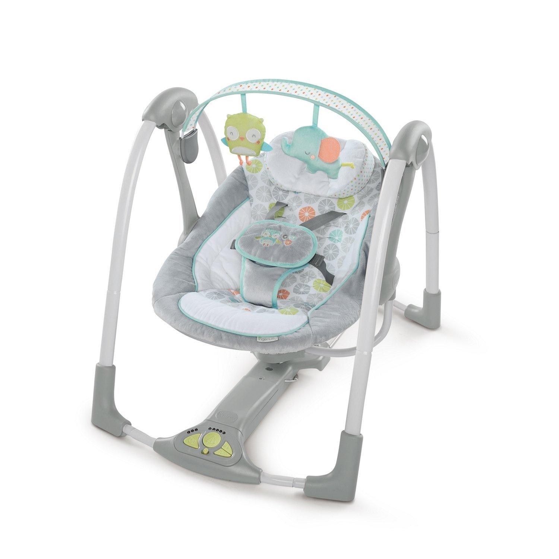 amazon.com : ingenuity swing u0027n go portable baby swings, hugs u0026 hoots XBJTKGQ