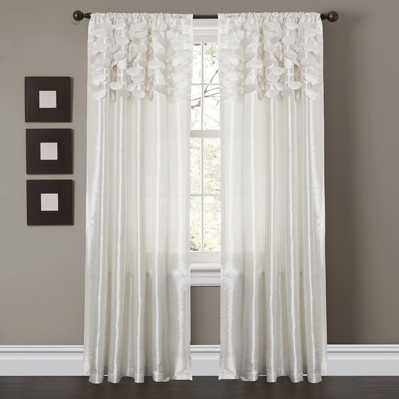 amazon.com: lush decor circle dream window curtain panels, white, set of 2: CASBJER