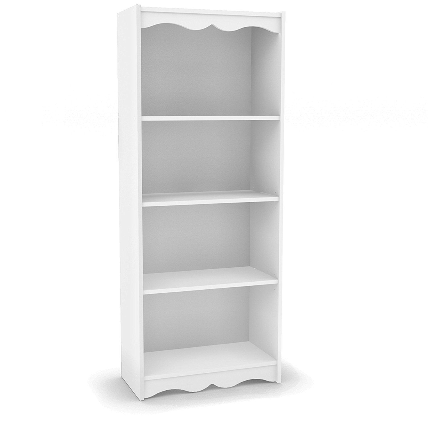 amazon.com: sonax hawthorn 60-inch tall bookcase, frost white: kitchen u0026  dining GNCYDIW