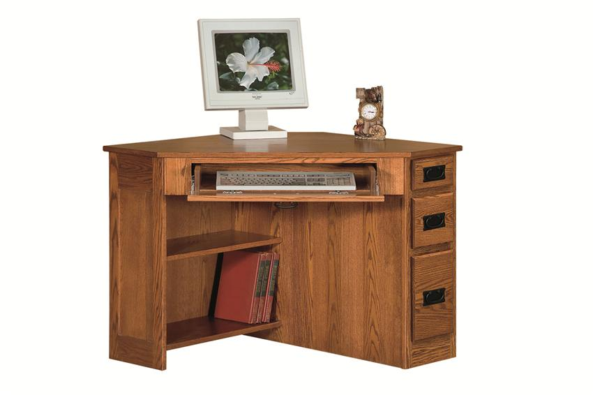 amish arts and crafts corner computer desk with side drawers PXKXOSQ