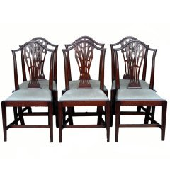 antique dining chairs antique set of six mahogany dining chairs JSEXALR