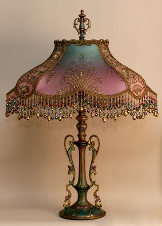 antique lamps art nouveau style victorian lampshade - this site has so many beautiful KGSVINV