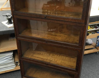 antique oak barrister bookcase c1881-1904 four stack 34x14x60h new england  furniture shipping RMVZLXB