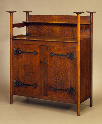 arts and crafts furniture sideboard (1897) HRRUBUN