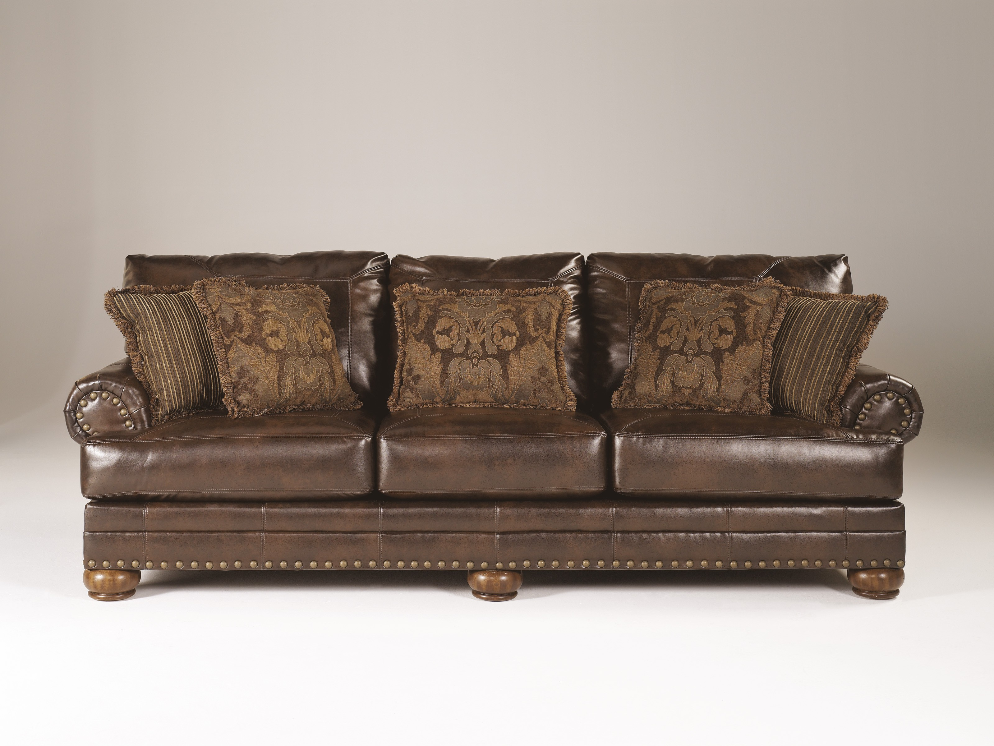 ashley-durablend-antique sofa ... WONACDG