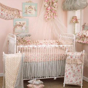 baby bedding for girls oxford 10 piece crib bedding set SEIKAYT