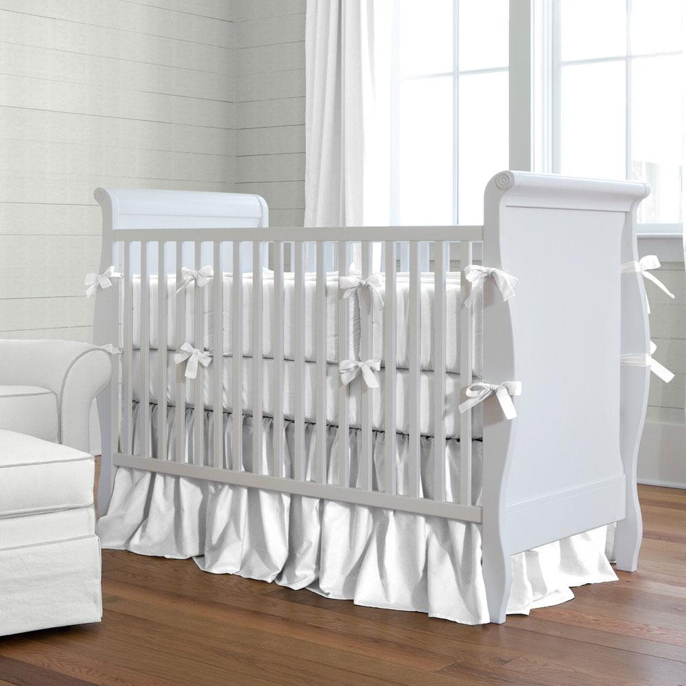 baby bedding solid white baby crib bedding collection QWGTSER