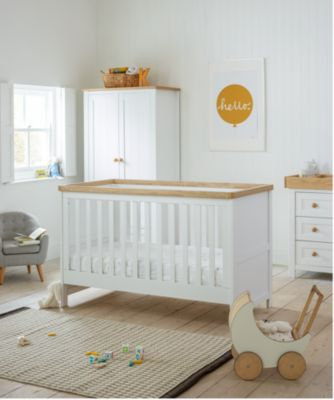baby nursery furniture mothercare lulworth 3-piece nursery furniture set - classic white ZDKIOQS