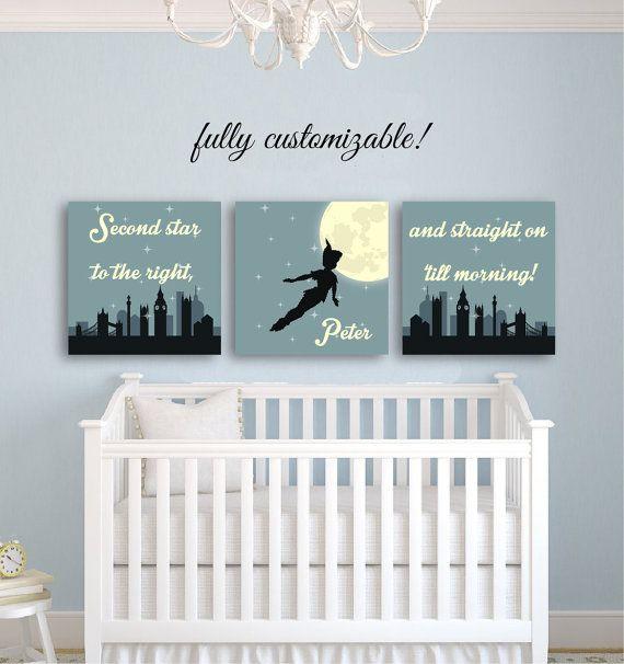 baby room decor nursery wall art peter pan nursery décor nursery decor boy girl peter WHMBFKV