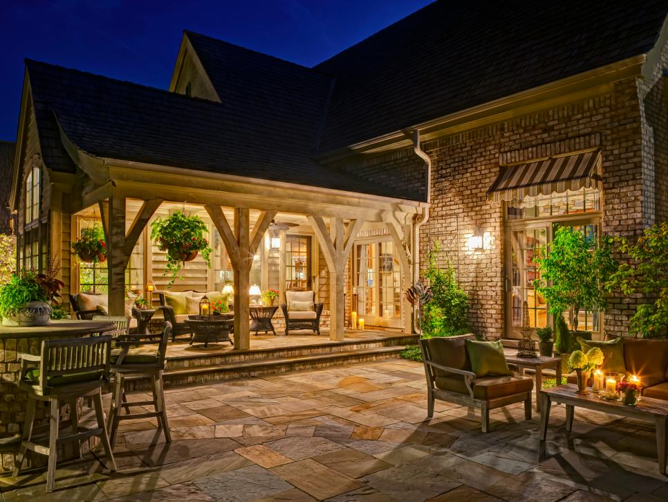 backyard patio ideas patio ideas | hgtv VXJIBVG