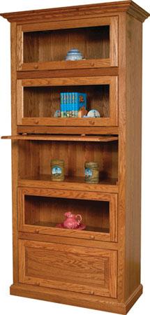 barrister bookcase in oak JCXPMXL
