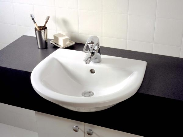 bathroom basins azure semi-recessed basin opus vanity KFQJCIO