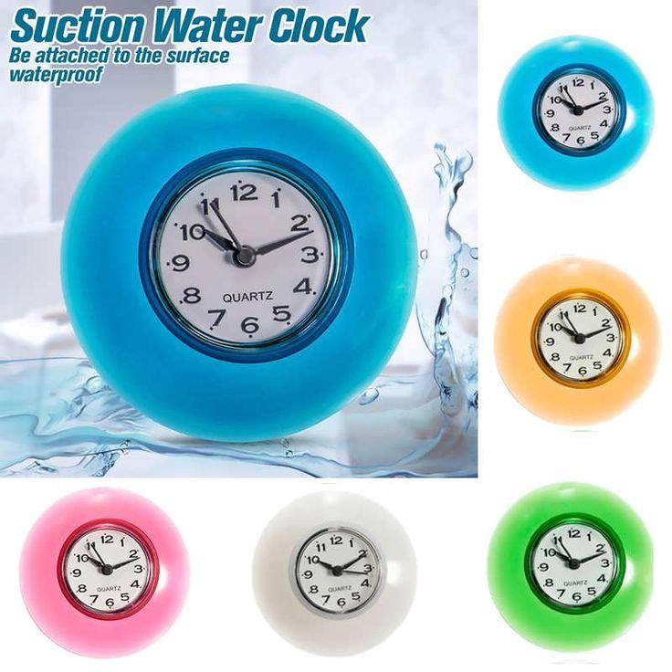 bathroom clocks description: bathroom waterproof wall clock resistant timer suction cup  this bathroom HDAAHPO
