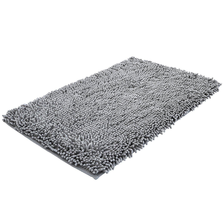 bathroom mat amazon.com: super soft bath mat microfiber shag bathroom rugs non slip DSVNFQL