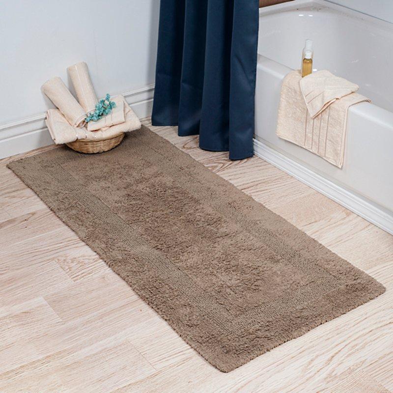 bathroom mats baysview extra long reversible bath rug KPEPSVZ