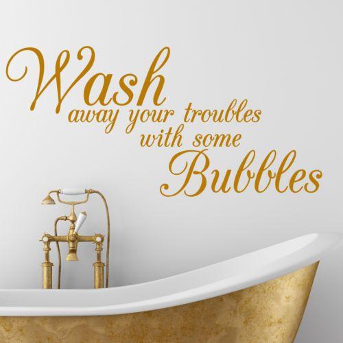 bathroom quotes bathroom quote, wash, bath, interior, wall sticker, decal, wallart, ss97 XTOXBEY