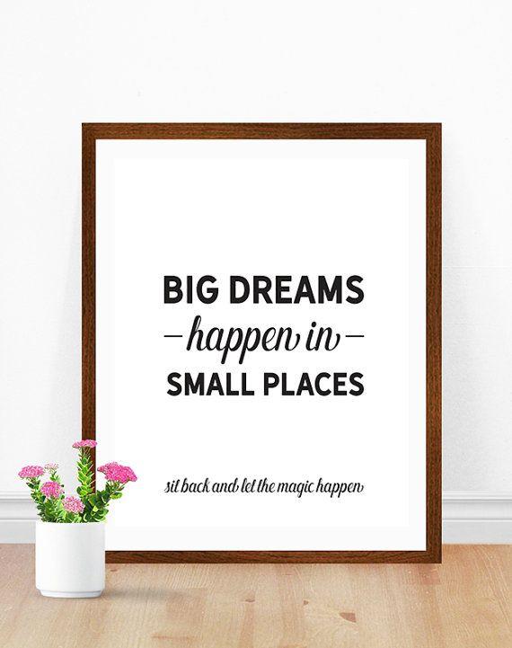 bathroom quotes funny bathroom art, big dreams happen in small places, bathroom wall art, HFVVZSU