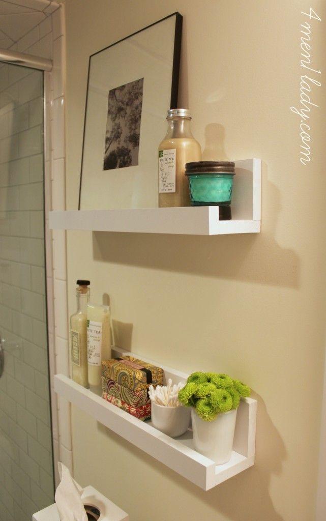 bathroom shelves bathroom-white-photo-ledge-shelves WHSFOVP