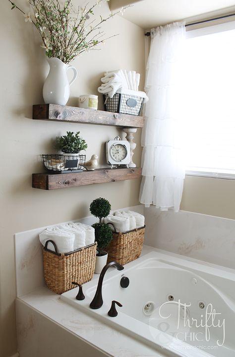 bathroom shelves diy floating shelves and bathroom update BAEWKBD