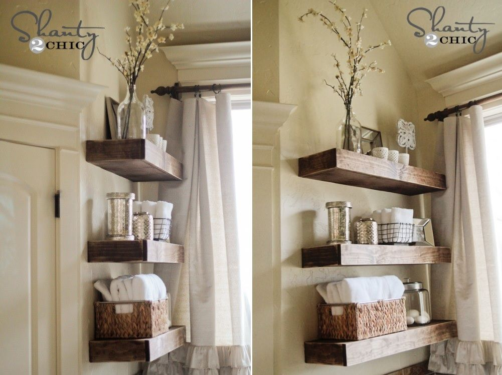 bathroom shelves floating wood shelves for bathroom storage PKEYHJN