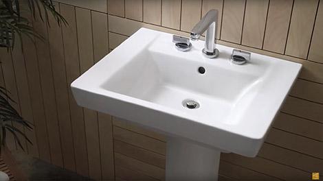 bathroom sinks video:luxury pedestal sinks by american standard ULTETGW