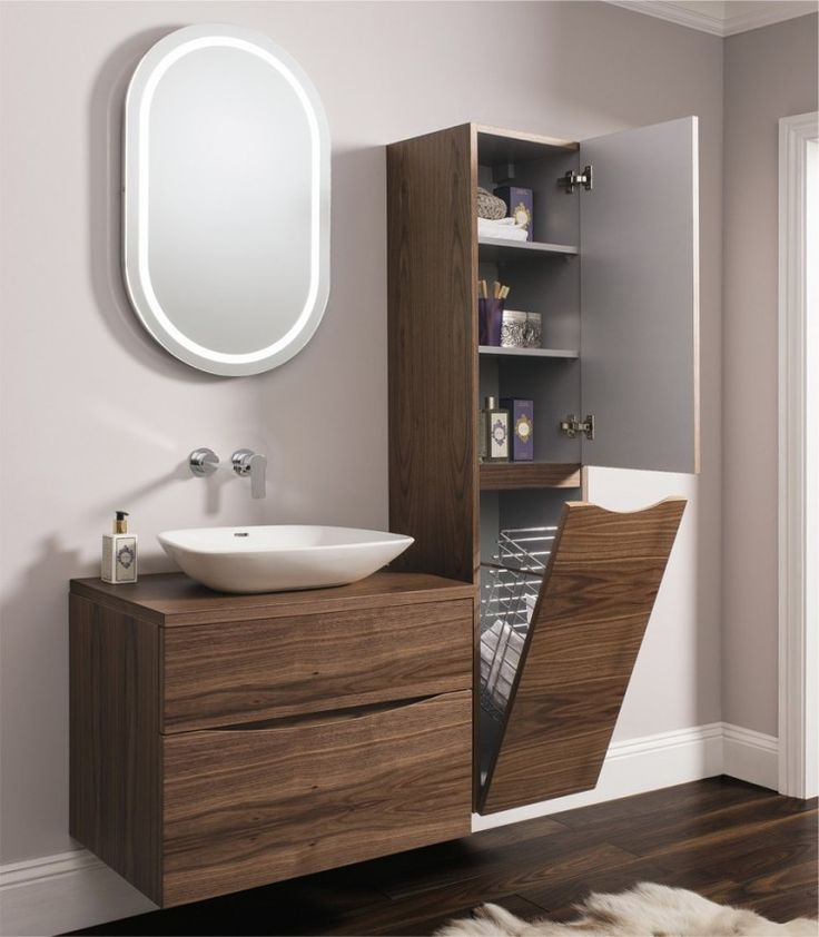 bathroom units glide ii american walnut | bauhaus bathrooms - furniture, suites, basins - BKAUUPZ