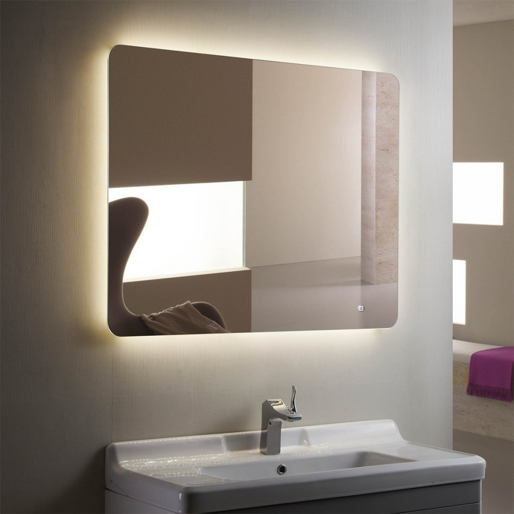 bathroom vanity mirrors with lights horizontal led bathroom silvered mirror with touch button XUNQAFX