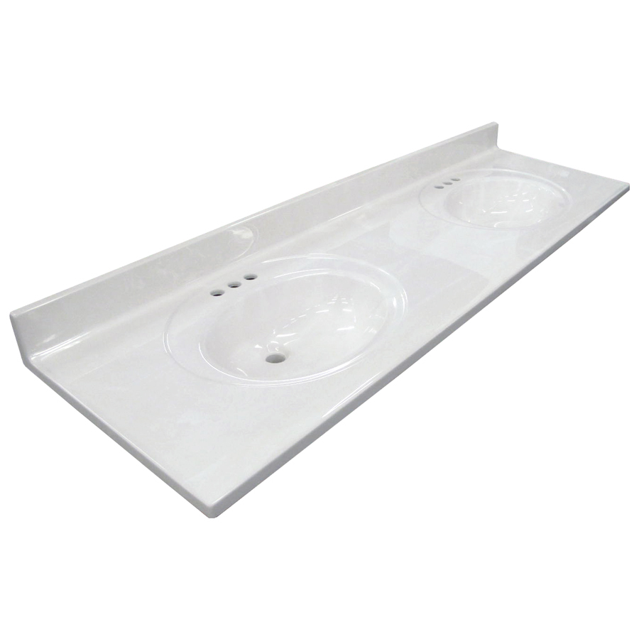 bathroom vanity tops us marble ambassador 101- white on white cultured marble integral bathroom ZBJFPCL