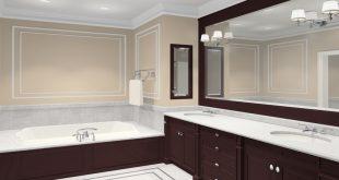 bathroom wall mirrors chocolate brown wooden frame bathroom wall mirror BIJQJDZ