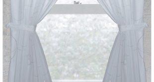 bathroom window curtains carnation home fashions ava fabric window curtain UULNAHP