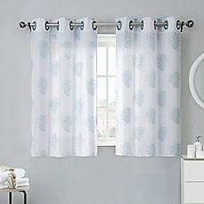 bathroom window curtains image of coral reef 38-inch bath window curtain tier pair in grey YWSDINS