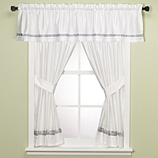 bathroom window curtains image of croscill® spa tile bathroom 45-inch window curtain panel pair WMNXVWJ
