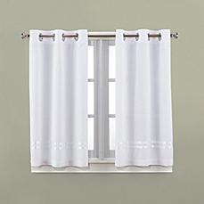 bathroom window curtains image of hookless® escape 45-inch bath window curtain panels GRNPNAC