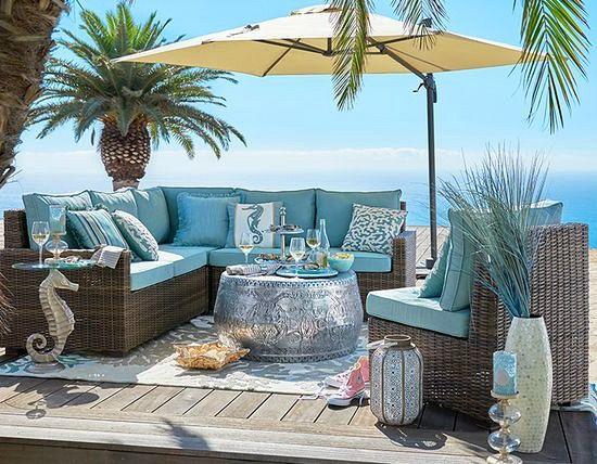 beach furniture breezy blue outdoor beach decor u0026 furniture from pier 1... http:/ MOZCYYB