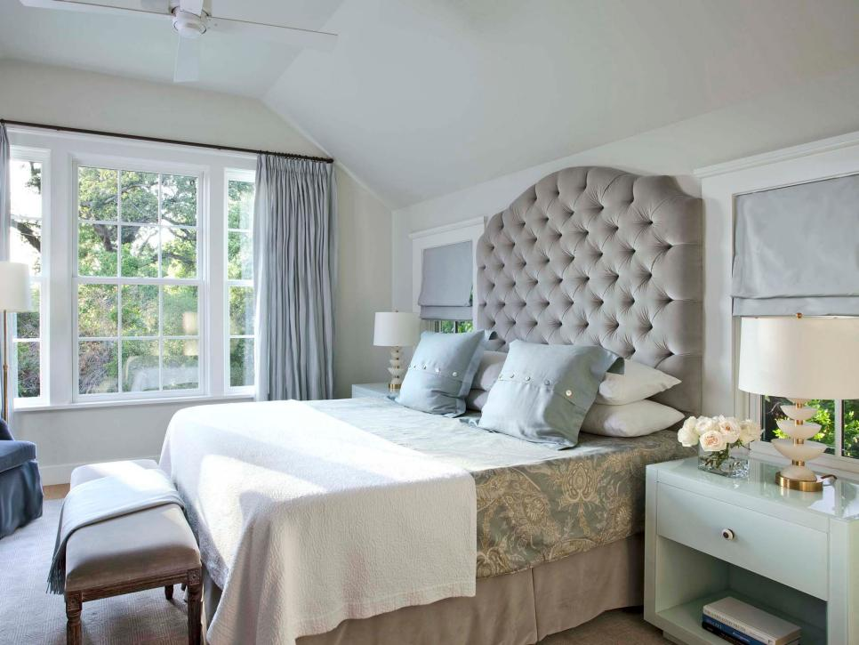 beautiful bedrooms: 15 shades of gray | hgtv IJZCALH