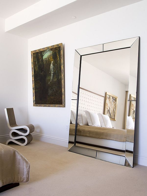 bedroom mirrors fabulous leaning mirror design at bedroom with unique corner stool image UTNLYNY