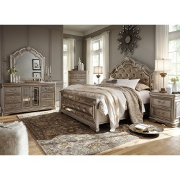 bedroom sets birlanny silver upholstered panel bedroom set TJUNSBT