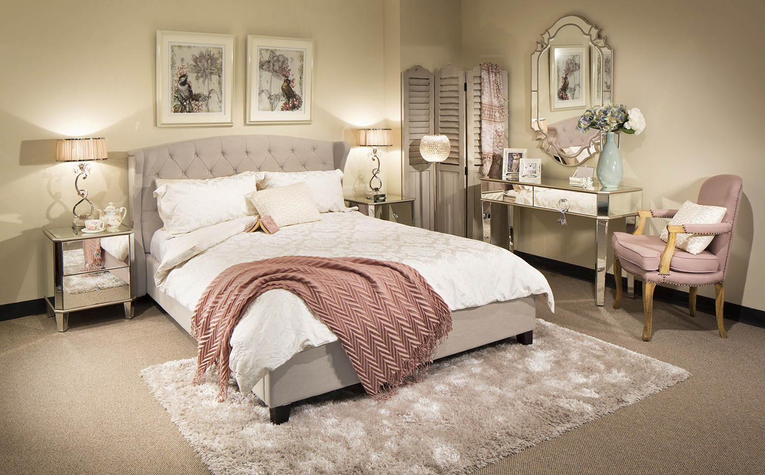 bedroom suite lauren queen size bed with limoge occasional furniture NCMLGOQ