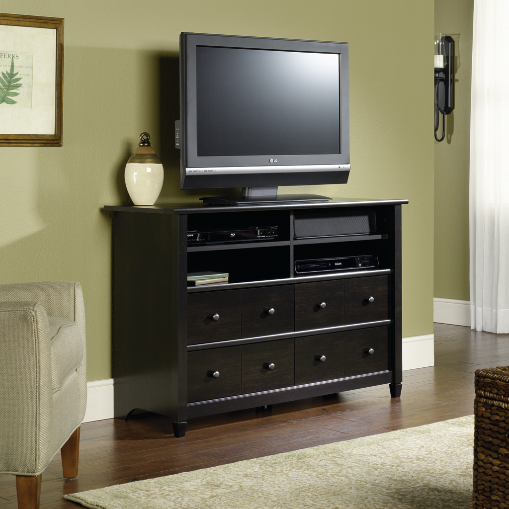 bedroom tv stand sauder edge water high boy tv stand AAEIGGX