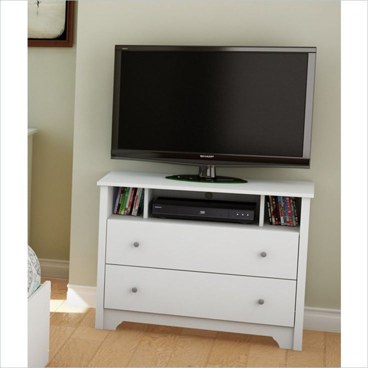 bedroom tv stand small, narrow tv stand flanked by bookcases PYPDBGN