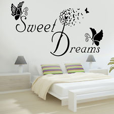 bedroom wall stickers sweet dreams butterfly love quote wall stickers bedroom removable decals diy RMQTIDE