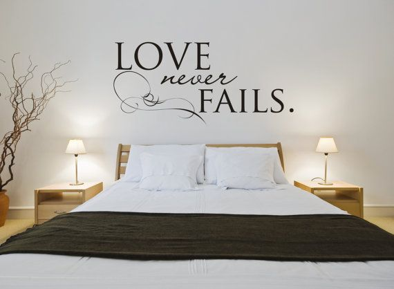 bedroom wall stickers vinyl wall sticker decal art - love never fails TUKNKHH