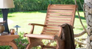 belham living avondale oversized outdoor rocking chair - natural | hayneedle ZCIIXPS