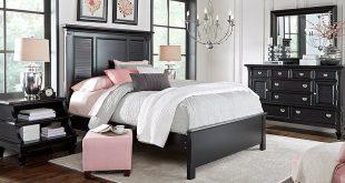 belmar black 5 pc queen bedroom - queen bedroom sets black NDDRDSF