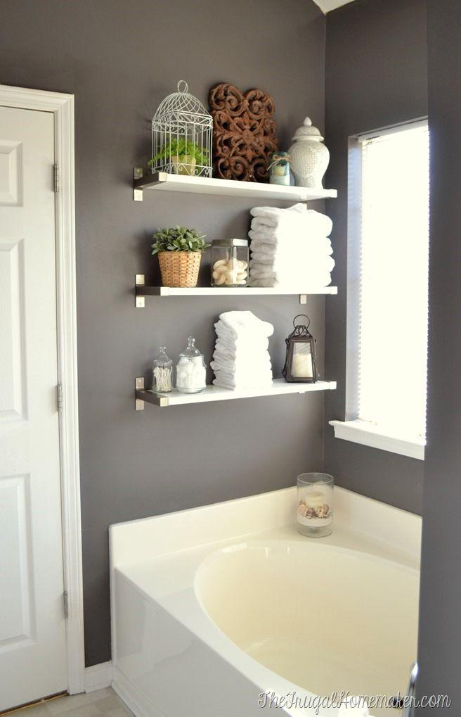 best 25+ bathroom shelves ideas on pinterest | half bathroom decor, half GZMQYLZ