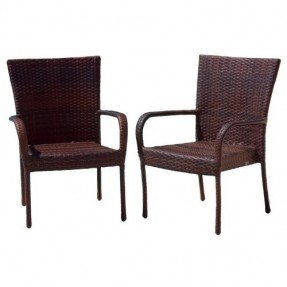 best selling outdoor wicker chairs, 2-pack EVAQADB