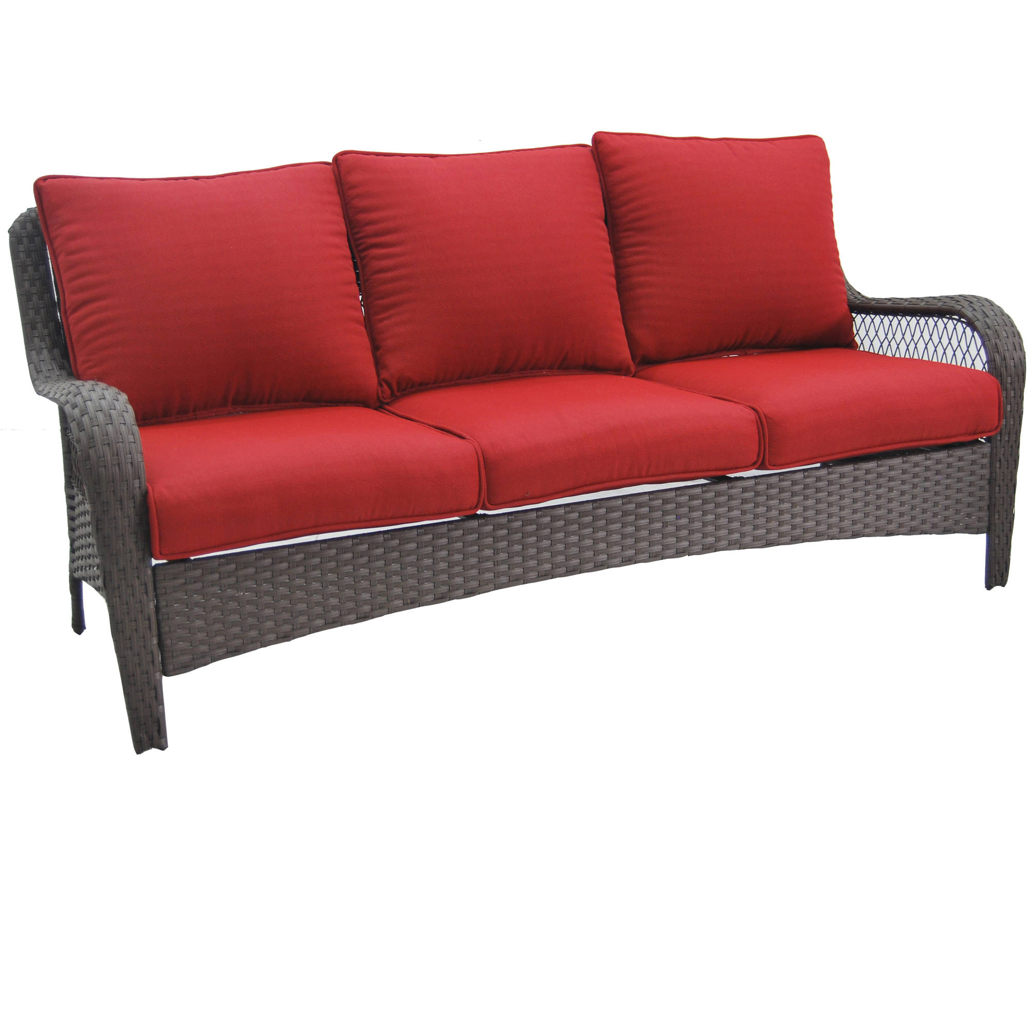 better homes and gardens colebrook outdoor sofa, seats 3 - walmart.com GFAOVLP