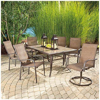 big lots outdoor furniture view wilson u0026 fisher® chesapeake tile top dining table deals at big SJNAPNR