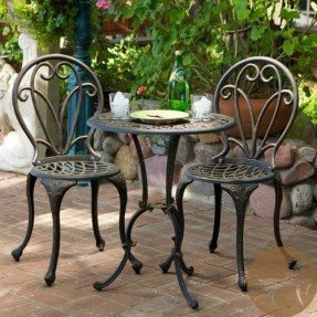 bistro table and chairs cast iron patio furniture set outdoor EBDASZY