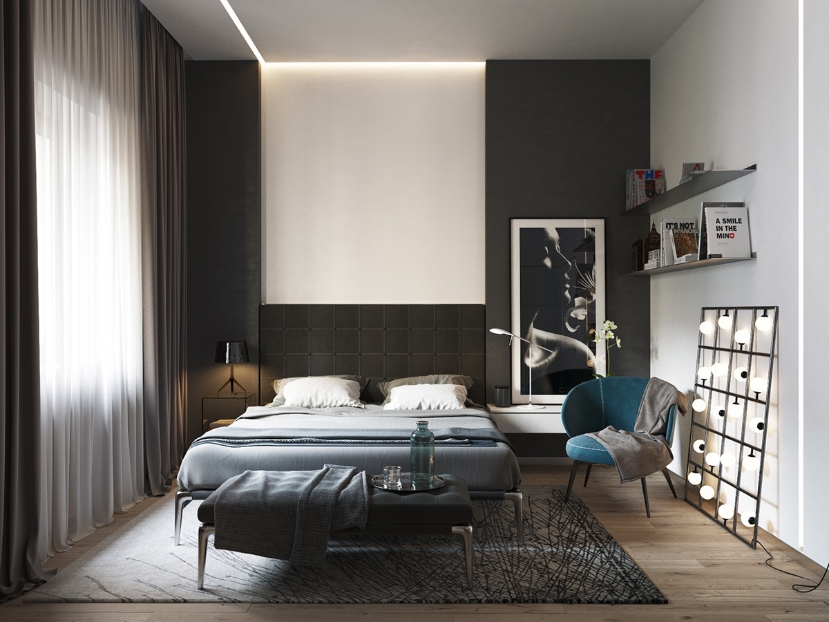 black and white bedroom ideas 40 beautiful black u0026 white bedroom designs IDNMGVQ